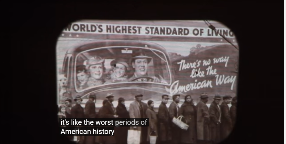 it's like the worst periods of American history