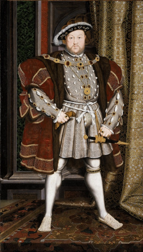 Portrait of Henry VIII by the workshop of Hans Holbein the Younger.